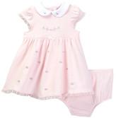 Little Me Rose Dress & Panty Set (Baby Girls)