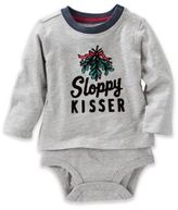 "Oshkosh Baby B'gosh® ""Sloppy Kisser"" Bodysuit in Grey"