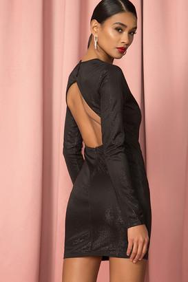 Bardot Metallic Knit Dress
