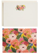 Rifle Paper Co. Juliet Rose Social Stationery 12-Pack Note Cards & Envelopes - Green