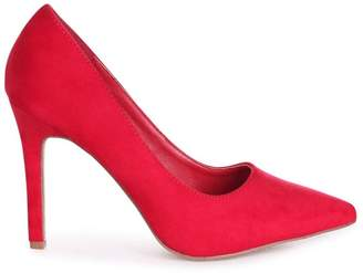 Linzi COLETTE - Red Suede Classic Court Shoe with Stiletto Heel