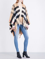Burberry Cashmere-wool blend checked cape