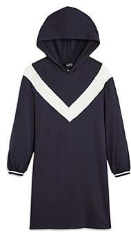 Aqua Girls' Hooded Chevron Dress, Big Kid - 100% Exclusive