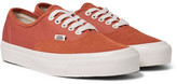 Vans Og Authentic Lx Suede And Canvas Sneakers - Red