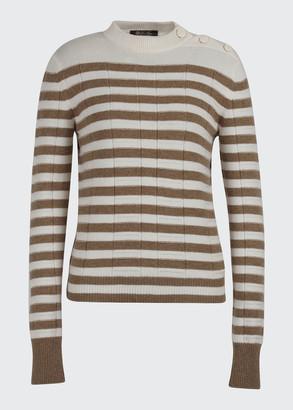 Loro Piana Lupetto Union Square Stripe Cashmere Sweater