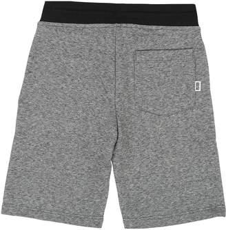 BOSS Boys Side Stripe Jersey Logo Shorts - Grey/Black