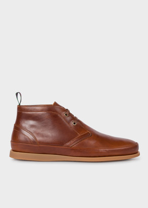 Paul Smith Men's Tan Leather 'Cleon' Boots