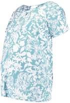 Mama Licious MAMALICIOUS MLLINA LIA Print Tshirt mineral blue
