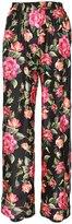 Dolce & Gabbana Flowers Printed Silk Twill Pants
