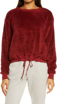 Zella Furry Fleece Pullover