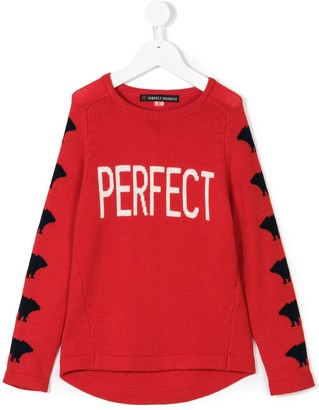Perfect Moment Kids Perfect intarsia jumper
