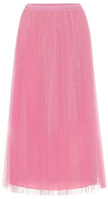 RED Valentino Point-d'esprit tulle midi skirt