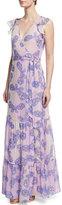 Diane von Furstenberg Stephanie Silk Butterfly Maxi Dress, Periwinkle