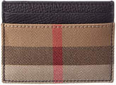 Burberry House Check & Grainy Leather Card Case