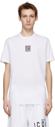 DSQUARED2 White QR Code Cool T-Shirt
