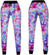 Qiyuxow 3D Emoji Printed Teen Activewear Sweatpants and Shirt Joggers