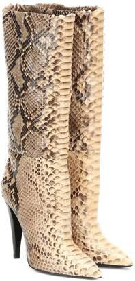Saint Laurent Era 110 python boots