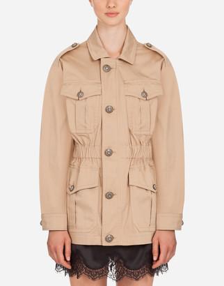 Dolce & Gabbana Single-Breasted Cotton Safari Jacket