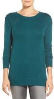 Caslon Button Back Tunic Sweater (Regular & Petite)