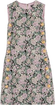 Dolce & Gabbana Button-embellished Brocade Mini Dress