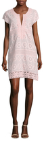 Calypso St. Barth Rondinara Cotton Lace Embroidered Shift Dress