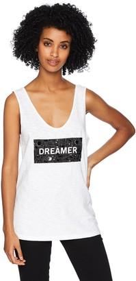 Kenneth Cole Women's Dreamer Low Scoop Embellished Tank