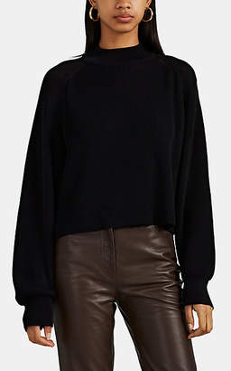 The Row Women's Elikie Rib-Knit Silk-Cotton Sweater - Black