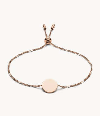 Fossil Disc Rose Gold-Tone Bracelet Jewelry JF02898791