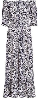 Baum und Pferdgarten Abril Off-The-Shoulder Leopard Maxi Dress