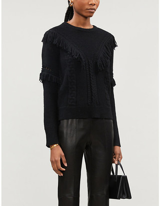 Altuzarra Fringed stretch-knit jumper