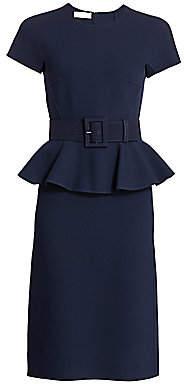 Michael Kors Women's Belted Peplum Midi Dress - Size 0