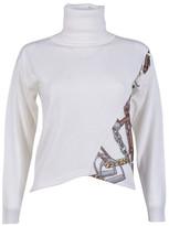Blugirl Turtleneck Printed Sweater