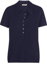 Michael Kors Ribbed Cashmere Polo Shirt