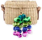 Nannacay - Cotio Baby Roge Woven Raffia Pompom Crossbody Bag