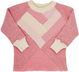 Agua Fine-Gauge Knit & Cable-Knit Cashmere Sweater-PINK
