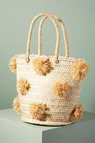 Indego Africa Palm Pommed Basket Bag