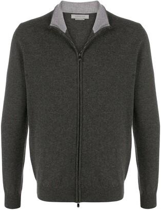 Corneliani Zip-Up Wool Cardigan