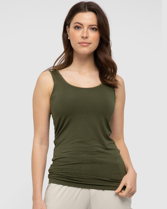 Bamboo Body - Women's Green Singlets - Vest Top - Size One Size, XL at The Iconic