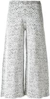 Theory wide-legged cropped trousers - women - Nylon/Polyamide/Spandex/Elastane/Rayon - M