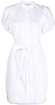 Stella McCartney Tied Waist Poplin Shirt Dress