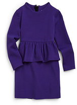 Milly Minis Girl's Ponti Jersey Peplum Dress
