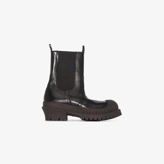 Acne Studios Black Bryant 50 leather Chelsea boots