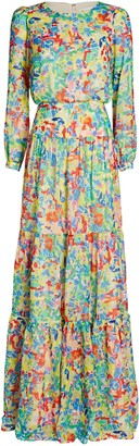 Saloni Isabel Silk Printed Maxi Dress