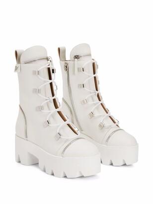 Giuseppe Zanotti Juliett leather ankle boots