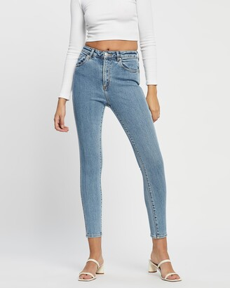 Neuw Women's Blue High-Waisted - Marilyn Skinny Jeans - Size 30 at The Iconic