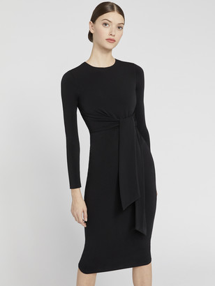 Alice + Olivia Delora Tie Waist Midi Dress