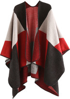 Idowela Women's Shawls red - Red & Black Color-Block Shawl