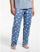 John Lewis & Partners Polar Bear Print Pyjama Bottoms, Blue