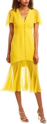 Prabal Gurung Victoria Silk Midi Dress