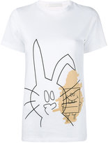 Peter Jensen Rabbit and SpongeBob print T-shirt